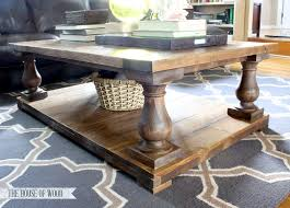 Charming Balustrade Coffee Table Idea