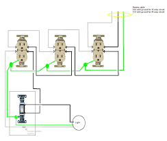 how to wire an electrical outlet diagram images here is a basic split splitting an electrical outlet 3 way switch wiring diagram