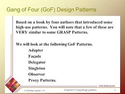 Design Patterns Gang Of Four Beauteous Design Patterns Part 48 Sources Ppt Video Online Download