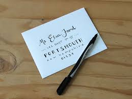 Original Ellen Foord How To Hand Letter An Envelope Sharpie Pen