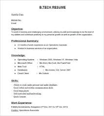 resumes for freshers