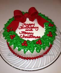 Christmas Cake Design Pinterest Coolest Wreath Cake Christmas Birthday Cake Cool Birthday