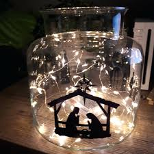 glass block decoration nativity scene vinyl sticker decal for glass blocks decoration waterproof removable set in glass block