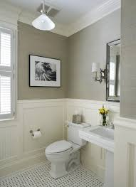 How To Clean Bathroom Floor Simple LOVE It All Wainscoting Sconces For Light Fixtures Classic Tile