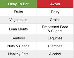 Caveman Diet Chart Paleo Vs Keto Diets