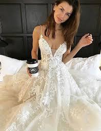 buy simple spaghetti straps sweep train backless wedding dress