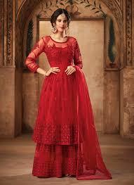 Red Net Dress Design Net Designer Pakistani Suit In Red
