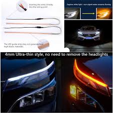 Car Turn Signal Lights Details About 2x 60cm Dual Color Switchback Flowing Turn Signal Lamp Car Drl Driving Fog Light