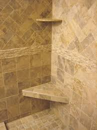 showers with tile walls. relieving bathroom inspiration immaculate caddy bath over small custom handmade triangle shower seating design then showers with tile walls