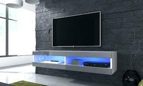 floating shelf tv stand diy floating goods global cabinet with optional led lights free delivery corner