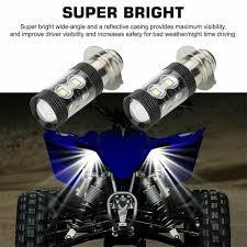 2 Chiếc H6/P15D LED Xe Máy Đèn Pha Bóng Đèn Phụ Xe Máy Siêu Sáng Cho Yamaha  YFZ450R Tê Giác 700 Raptor YFM660 TRX|