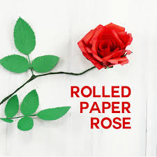 Rose Flower With Paper Rolled Paper Rose Tutorial Fun Realistic Jennifer Maker
