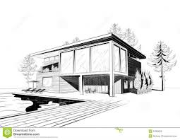 modern architectural drawings. Fine Architectural Modern House Drawing Perspective Floor Plans Design Architecture  Home  Picture On Architectural Drawings