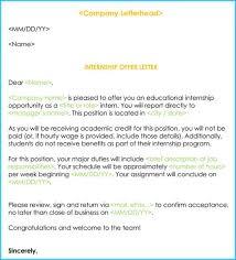 Letter Format For Internship Application Sample Internship Offer Appointment Letters 7 Templates