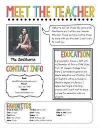 Meet The Teacher Newsletter Template By The Pixie Dust Teacher Tpt