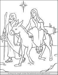 Small Picture Mary Joseph to Bethlehem Advent Coloring Page TheCatholicKidcom