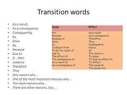 transition words for cause and effect essay words   custom  transition words for cause and effect essay