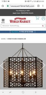 world market honeycomb chandelier for in sacramento ca