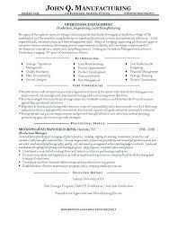Manufacturing Resume Templates Mesmerizing Manufacturing Production Manager Resume Template Templates
