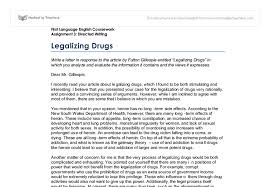 legalizing drugs gcse english marked by teachers com document image preview