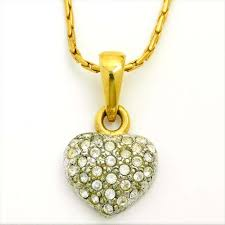 agatha aga aktiebolag tapa vera in stone solid heart pendant gold x silver color plating pendant