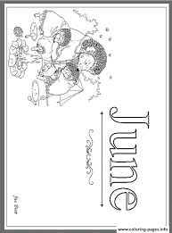 months of the year june by jan brett coloring pages printable