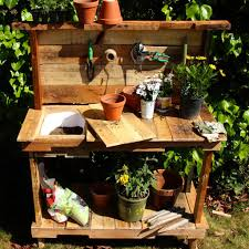 Potting Bench Plans Make A Rustic Potting Bench For Your Garden Woodworking For Mere