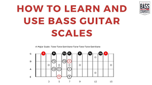 Bass Guitar Scales How To Learn And Use Them Patterns