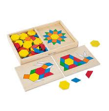 melissa doug wooden pattern blocks and boards melissa doug craft activities wooden toys