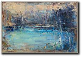 abstract painting extra large canvas art horizontal abstract landscape oil painting on canvas giant canvas wall  on horizontal canvas wall art with abstract painting extra large canvas art horizontal abstract