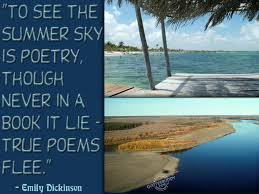 To See The Summer Sky Is Poetry Though Never In A Book It Lie True