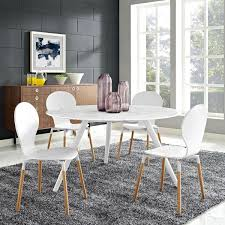 lippa 54 inch round artificial marble dining table with tripod base white by modern living