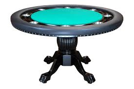 the nighthawk 8 player round table green