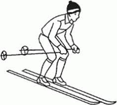Ознакомление и разучивание техники подъема елочкой  2 Ознакомление и разучивание техники спуска в средней стойке