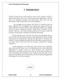 cloud computing documentation report cloud computing technology