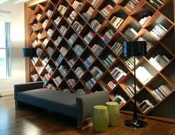 home library ideas home office. Stunning Home Library Design Ideas With Diagonal Book Shelves Modern . Office S
