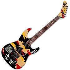 george lynch musical instruments gear esp gl200k george lynch kamikaze electric guitar graphic finish