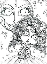 Coloring Pages Gothic Fairies Stress Relief Coloring Pages Printable
