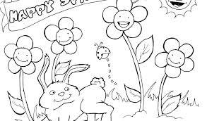 Coloring Pages For Preschoolers Spring Kinder Preschool Pdf Free