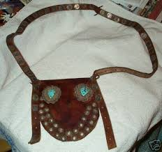 NATIVE AMERICAN BANDOLIER POUCH STERLING BYRON HUNTER | #15786345