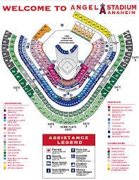 Angels Stadium Seating Chart With Rows Anaheim Stadium Seating