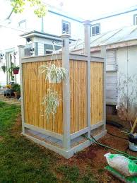 diy outdoor shower s homemade head ideas pvc enclosure diy outdoor shower drainage ideas enclosure plans
