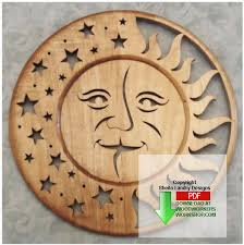 sun and moon self framing plaque scrollsaw pattern