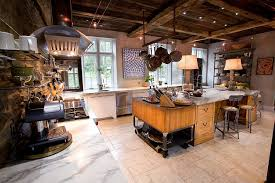 bedrooms industrial kitchen with double unique table lamps on rustic wood kitchen island and barn