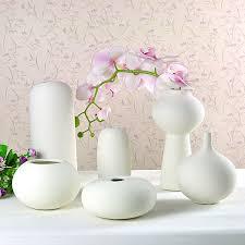 White Ceramic Decorative Accessories Interesting Ceramic Vase Ornaments Insert Small White Vase Creative Home