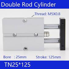 <b>TN25</b>*125 Free shipping <b>25mm Bore</b> 125mm Stroke Compact Air ...