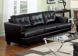 Leather Living Room Sectionals Bonded Leather Living Room 15090 Black