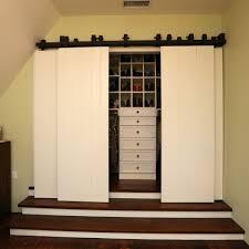 Bypass Barn Door Bypass Barn Door Hardware Closet Traditional With Barn Closet Door