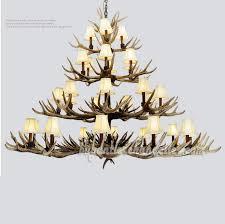 deluxe 31 antler 4 tiers cast cascade 12 9 6 4 candelabra ceiling