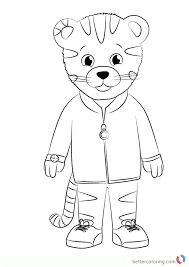 Daniel Striped Tiger From Daniel Tiger Coloring Pages Free